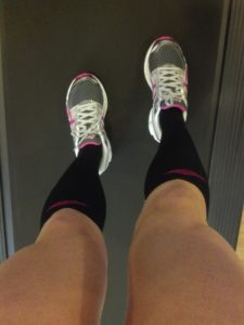 Me and my besties!!!! Pro Compression Marathon Socks and my Asics!