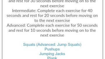 Indoor Body Weight Circuit