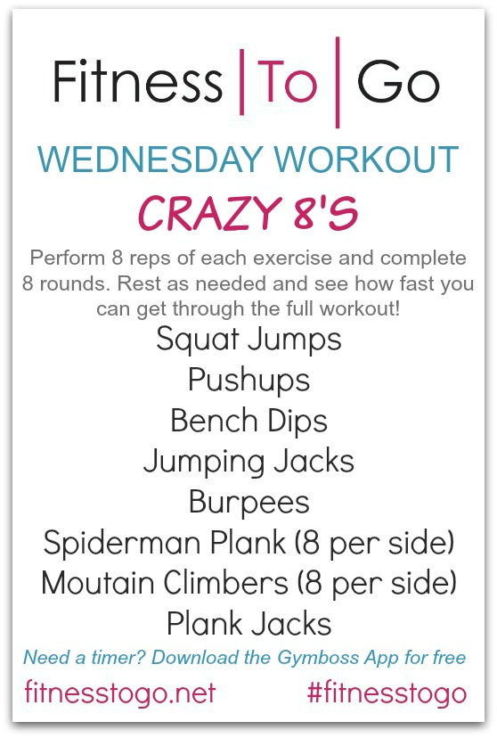 Wednesday Workout - Fitness To Go